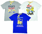 Boy's Official Despicable Me Minions Chaos Cotton T-Shirt Top 4-12 Years NEW