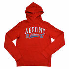 Aeropostale Mens Hoodie Graphic Sweatshirt Pullover Ny Athletics New Small Red