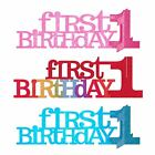 First 1st Birthday Party Sparkle Blue Pink Table Centrepiece Decoration Girl Boy