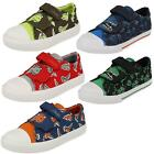 Clarks Boys Canvas Doodles 'Tricer Roar' Black or Navy