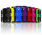 Rugged Kickstand 2 in 1 Hybrid Armor Phone Case for Galaxy S4 + Belt Clip