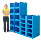 10 x Pick Bins Storage Bin Stackable Containers Plastic Parts Picking Boxes Blue