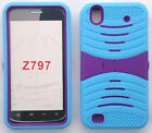 BUILT IN SCREEN PROTECTOR Faceplate Quality Phone Case For ZTE Quartz Z797c