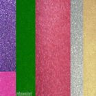 3 Sheets Of Soft Touch Glitter Card or Paper for £1.75 - Choice of Colours