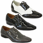 Mens Shoes Formal Italian Style Brogue Patent Office Work Dinner Party Wedding