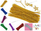 "100 Chenille Glitter stick 6mm 12"" Pipe Cleaner 7 Color"