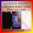 LEATHER DIARY FOLIO FLIP CASE COVER for LENOVO A6000 MOBILE FRONT & BACK FLAP