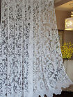 Good Quality White Lace Floral Window Curtains, many size for choose