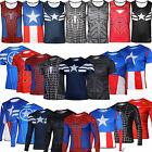 Men Compression Marvel Base Layer Running Cycling Vest Tank Top Jersey Shirt Tee
