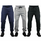 Mens Bottoms Dissident Jogging Trousers Pants Cuffed Fleece Lined Zip Casual New