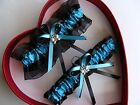 NEW Sexy Bride Wedding Garters Turquoise Black Prom GetTheGoodStuff Butterfly