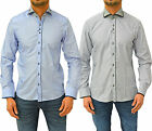 Mens GUIDE LONDON Shirt Dress Casual Formal Slim Fit Contrast Cut Away Collar