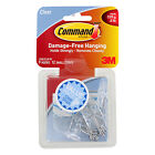 3M Command Hanging Hooks, Small, 1/2 Lb Capacity, Clear, Pack of 9
