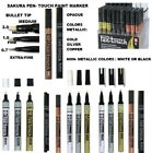 Sakura Pen Touch  Bullet Tip Paint Marker--3 metallic colors , black or white-