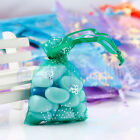 10- 500pcs Butterfly Organza Jewelry Pouch Wedding Party Favor Gift Bag 7X9cm EW