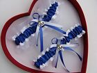 NEW Sexy Wedding Garter Blue White Prom Homecoming Police Officer Handcuffs