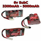 6V 3300-5000mAh SubC SC Premium Racing RC NiMh battery pack + custom connector