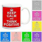 Keep Calm AND THINK POSITIVE MUG Gift Present Office Work Funny Joke Manager