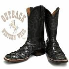 Black Jack Men's Charcoal Inverted Pirarucu Fish Square Toe Boots BK682