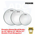 "Vintage Premier Drum Skins: TS Coated Tom/Snare Heads (10""/13""/14"")"