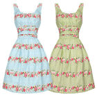 Voodoo Vixen Pretty Floral Chintz 50s Fifties Party Prom Flared Swing Dress