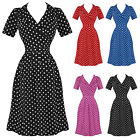 The Seamstress Of Bloomsbury Peggy Vintage 40s WW2 Designer Swing Tea Wrap Dress