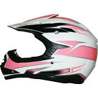 LEO-X16 Kids Child Junior Off Road MX Helmet Motocross Motorbike Pink/White