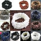Womens Gemstone Shell Crystal Freeform Chip Beads Bracelet Stretchy Bangle 6''L