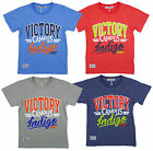 Boy's Victory Campus Indigo Trendy Fashion T-Shirt Top Tee 2-16 Years NEW