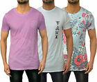 Mens Designer Friend Or Faux Fitted T-Shirt Multi Print Tee Crew Neck Top 3Style