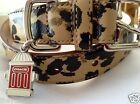 NEW COACH SOLD OUT OCELOT ANIMAL 66346  SMALL LEATHER DOG COLLAR S Rare limited