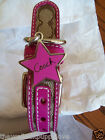NEW COACH SOLD OUT PINK STAR SIGNATURE  SMALL DOG COLLAR S 61354 HARD TO FIND