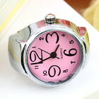 Creative Fashion Steel Round Elastic Quartz Finger Ring Watch Lady Girl Gift FE
