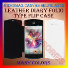 LEATHER DIARY FOLIO FLIP FLAP CASE for MICROMAX CANVAS SELFIE A255 MOBILE COVER