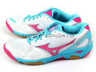 Mizuno Wave Twister 3 White/Pink/Sky Blue Indoors Sports Volleyball V1GA147264