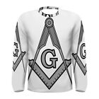 Freemason Square Compass Sublimated Men's Long Sleeve T-Shirt S,M,L,XL,2XL,3XL