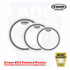 Evans EC2 Frosted/Coated Level 360 Tom Heads: Fusion/Rock/Hydperdrive Drum Skins