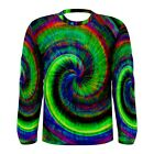 Hippy Tie-Dye Peace Sublimated Men's Long Sleeve T-Shirt S,M,L,XL,2XL,3XL
