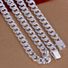 """20"""" 24"""" inch Men Fashion Silver Plated High Quality 10MM Chain Necklace Jewelry"""