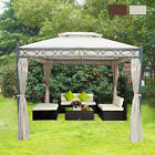 3 x 3M Metal Gazebo Awning Canopy Sun Shelter Pavilion Marquee Party Tent