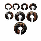 1 x Ebony Wood Ring Ear Plug Hook Donut CBR BCR Choice of 8G-1.4cm 3mm-14mm