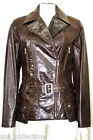 Boston Brown Ladies Womens Retro Party Designer Soft Glazed Real Leather Jacket