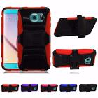 For Samsung S6 ACTIVE Dual Layer Side Kickstand Holster Cover Case