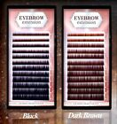 Eyebrow Extension Mix Size 4-8mm: .07/.10mm Brown Or Black EB#2