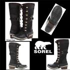 SOREL Conquest? Carly Womens Black Boots Size:US 8 / EU:39 NEW