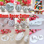 Santa Snowflake/Leaves Plunger Cutter fandant Cake Christmas Decorating Tools
