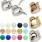 Mexican Bola Pendant Heart Angel Wings Cage Harmony Chime Ball Pregnant Necklace