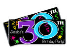 30th Birthday Candy Bar Wrappers - 30, 40, 50, 60, 70 Milestone Favors. Any age.