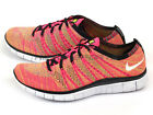 Nike Free Flyknit NSW 2015 Multicolor Pink Flash/White-Volt-Blue Glow 599459-600