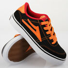 Lakai Encino Kids Black Orange Nubuck Kinder Schuhe Skaterschuhe Schwarz Orange